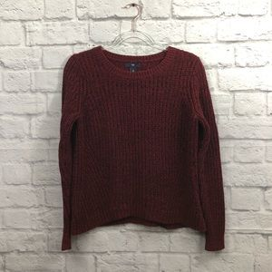 GAP crew neck black + red marbled knitted sweater